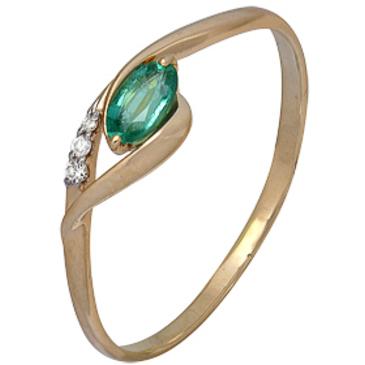 кольцо c изумрудом из красного золота 1910202286