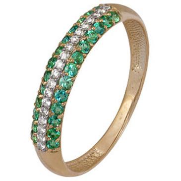 кольцо c изумрудом из красного золота 1910202418