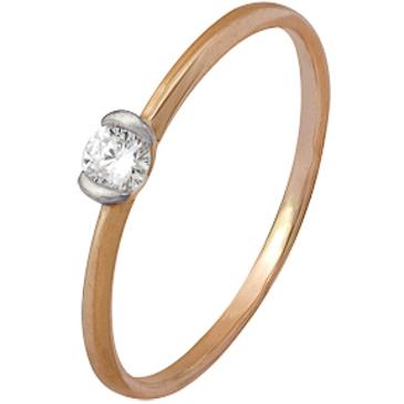кольцо c изумрудом из красного золота 1000202397