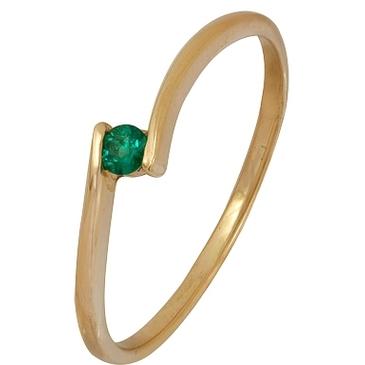 кольцо c изумрудом из красного золота 1010001492