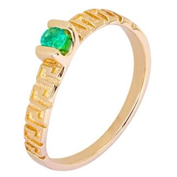 кольцо c изумрудом из красного золота 11407846