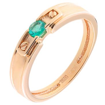 кольцо c изумрудом из красного золота 11407875