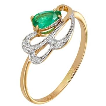 кольцо c изумрудом из красного золота 11434469