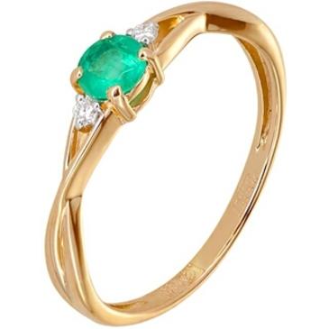 кольцо c изумрудом из красного золота 11434625