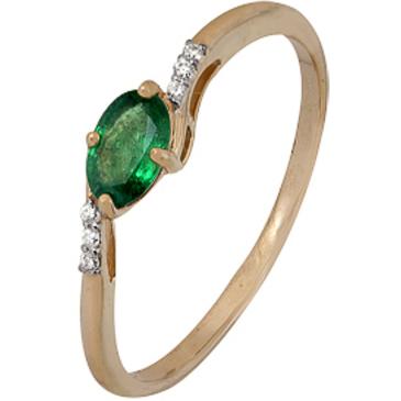 кольцо c изумрудом из красного золота 1910202280