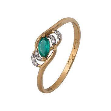кольцо c изумрудом из красного золота 1910202468