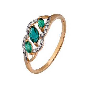 кольцо c изумрудом из красного золота 1910202470