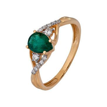 кольцо c изумрудом из красного золота 1910202487