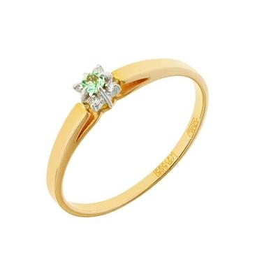 кольцо c изумрудом из красного золота 12438275