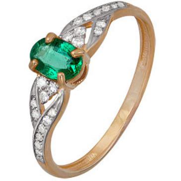 кольцо c изумрудом из красного золота 1910202486
