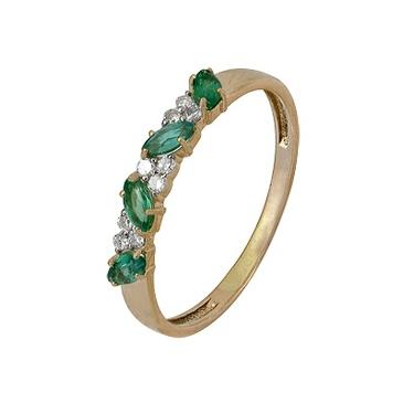 кольцо c изумрудом из красного золота 1910202062