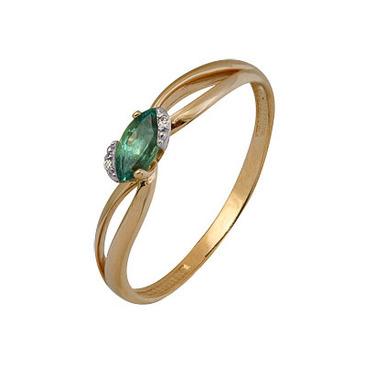 кольцо c изумрудом из красного золота 1910202276