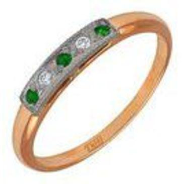 кольцо c изумрудом из красного золота 1243243