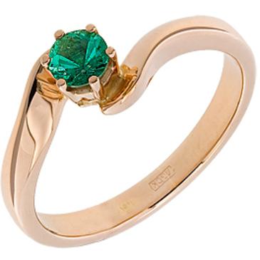 кольцо c изумрудом из красного золота 11403177