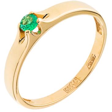 кольцо c изумрудом из красного золота 11408055