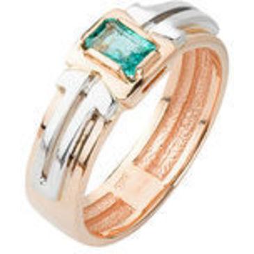 кольцо c изумрудом из красного золота 12401498