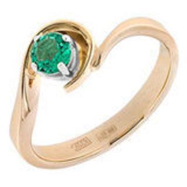 кольцо c изумрудом из красного золота 12403159