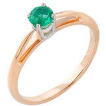 кольцо c изумрудом из красного золота 12407314