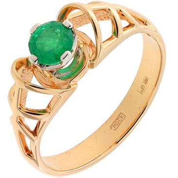 кольцо c изумрудом из красного золота 12407502