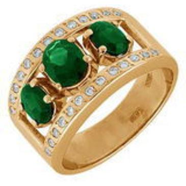 кольцо c изумрудом из красного золота 11431241