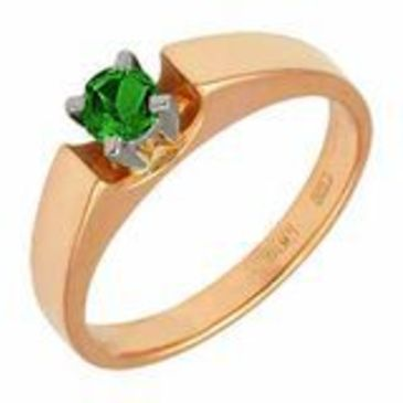 кольцо c изумрудом из красного золота 12401558