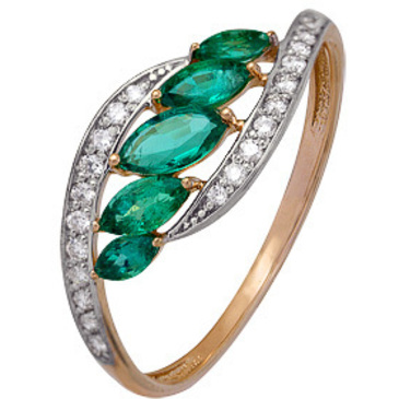 кольцо c сапфирами из красного золота 1910202297