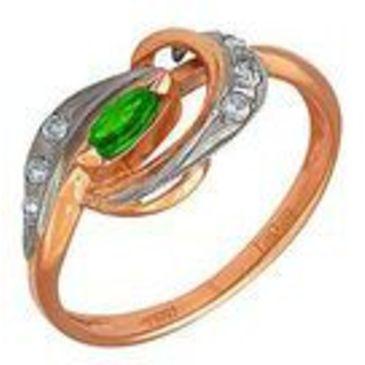 кольцо из красного золота 1243258