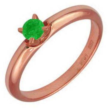 кольцо из красного золота 12401559