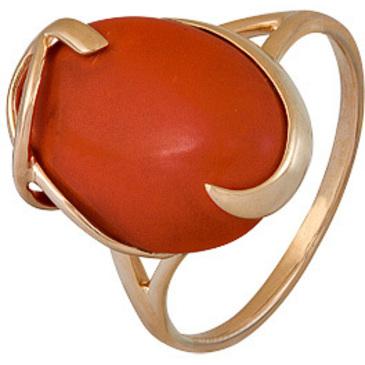 кольцо c кораллом из красного золота 1500001355