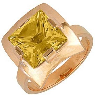 кольцо c кварцем из красного золота 118A1889