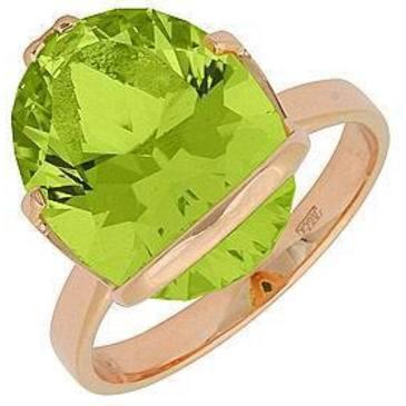 кольцо c кварцем из красного золота 11991888