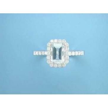 кольцо c топазом и бриллиантами из красного золота r06222q
