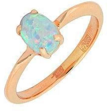 кольцо c опалом из красного золота 1147524
