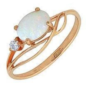 кольцо c опалом из красного золота 1157146