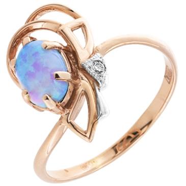 кольцо c опалом из красного золота 11571096