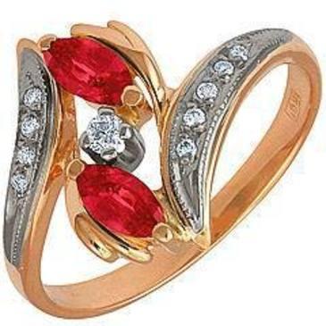кольцо c рубинами из красного золота 12231641