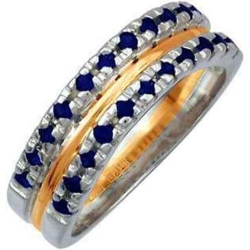 кольцо c рубинами из красного золота 12561214