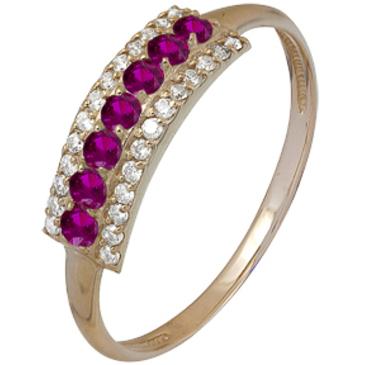 кольцо c рубинами из красного золота 1920002072