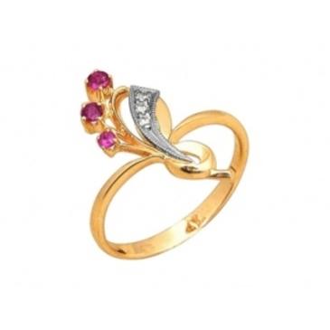 кольцо c рубинами из красного золота 28500109
