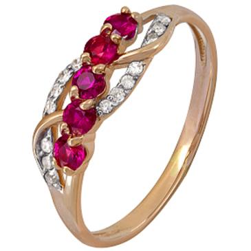 кольцо c рубинами из красного золота 1920202423