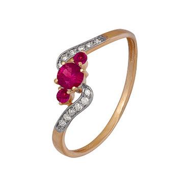 кольцо c рубинами из красного золота 1920202417