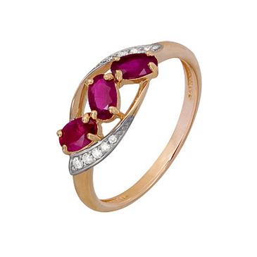 кольцо c рубинами из красного золота 1920202489