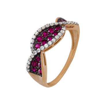 кольцо c рубинами из красного золота 1920202419-1