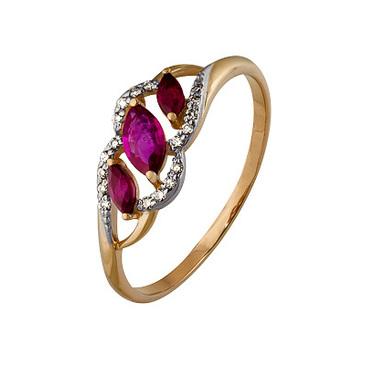 кольцо c рубинами из красного золота 1920202470