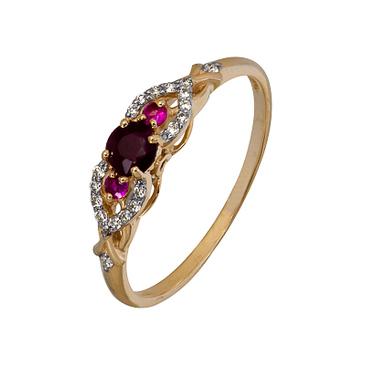 кольцо c рубинами из красного золота 1920202425