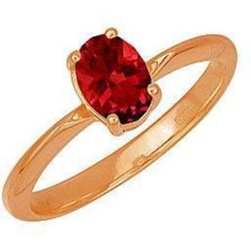 кольцо c рубином из красного золота 1120524