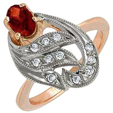 кольцо c рубином из красного золота 12231572