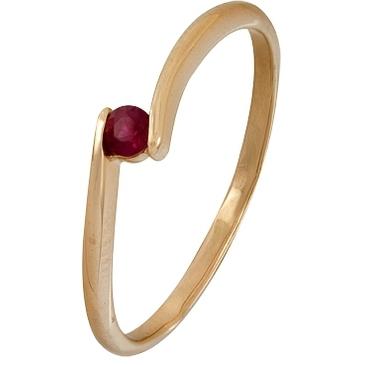 кольцо c рубином из красного золота 1020001492