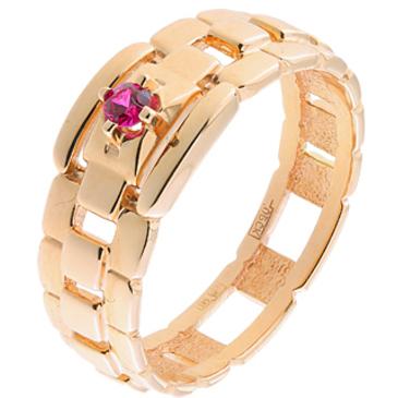 кольцо c рубином из красного золота 11207874