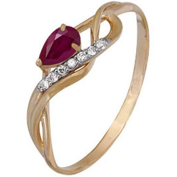 кольцо c рубином из красного золота 1920202344